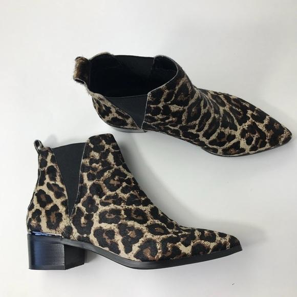 700ef0e24b3 NWOB Treasure   Bond Leopard Block Heel Bootie. M 5a3947c9331627ae7c00e394